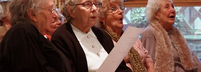 Choir visit local care homes